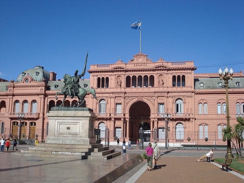 Casa Rosada na Praça de Maio