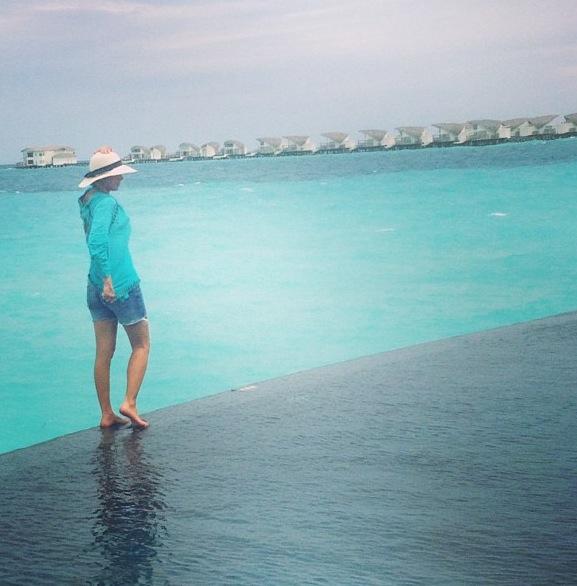 Nas ilhas Maldivas...