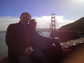 """""""Vista Point"""" um ótimo lugar para admirar a paisagem,. logo depois que cruza a Ponte Golden gata."""